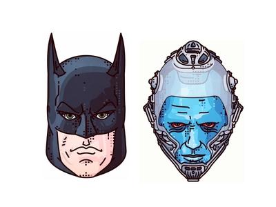 Batman & Robin 1997!! batman robin movie portret freeze dark illustration superhero gotham comic