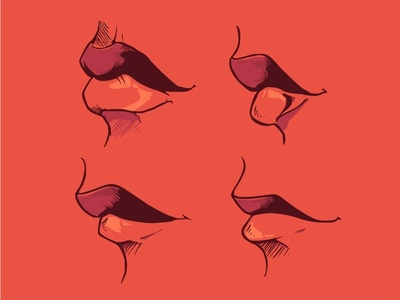 Lips 3 illustration beautiful flat pretty vector smile sexy nerd glasses girl geek cute