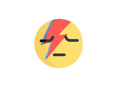 David Bowie emoji tribute symbol painting painted paint ziggy emoji icon rip davidbowie artist inspiration