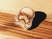 Star Wars wooden pin