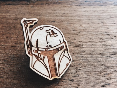 Boba Fett Pin rogue one star wars badge stormtrooper sale darth vader space deathtrooper kylo ren wood pin