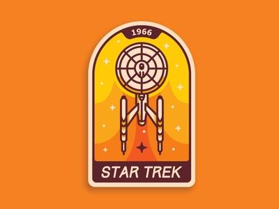 Star Trek badge 🏅 badge icon illustration space star trek ship stars space ship sci fi spacecraft uss enterprise
