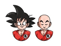 Goku and Kuririn 👥