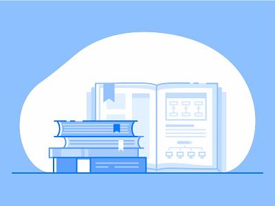Libraries tools paper code print branding line illustration icon documentation developer api libraries