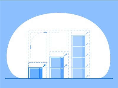 Scalable server illustration icon connecting block storage application app size system scalable storage