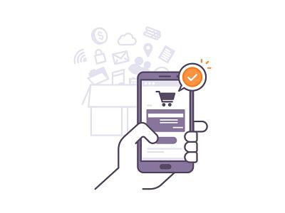 Shoping 📱 order shoping money logo hand credit coin cash card buy phone bank