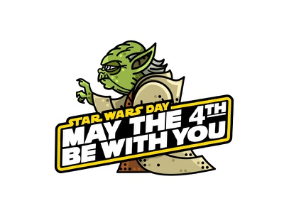 May The 4th Be With You  may the 4th joda jedi sith darth vader design force awakens stormtrooper space boba fett wars star