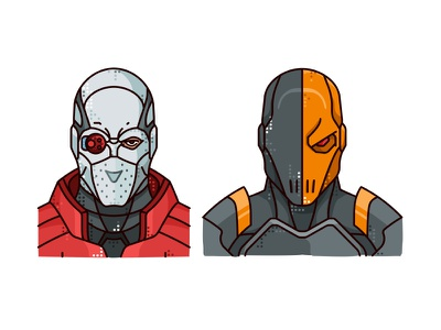 Deadshot & Deathstroke line character slade wilson comics deathstroke vector superhero suicide squad illustration deadshot dc comics dc
