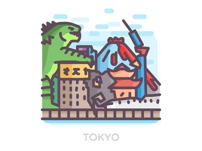 Godzilla Vs Tokyo 🌇🐲