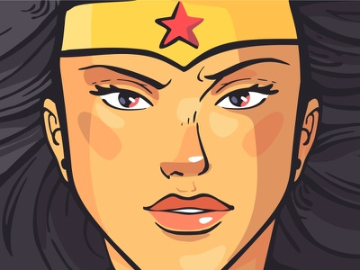 Wonder Woman illustration wonder woman trend style wacom colorful power cute girl dc comics female character design