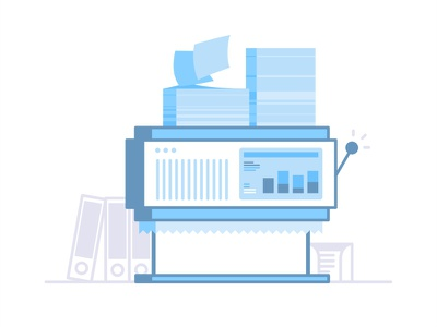 Scanning documents 📃📃📃📃 minimal icon help vector design illustration line papers documents scanning press printing