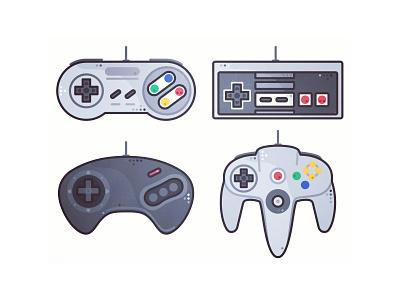 Retro joystick 🕹️ nintendo atari 90s 80s game video gaming retro design stickers joystick illustration arcade