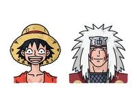 Luffy And Jiraiya