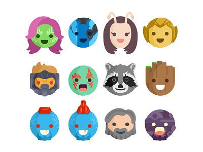 Guardians Of Galaxy Emoji emoji set hero guardians character icons faces emoji starlord marvel illustration guardians of the galaxy comics