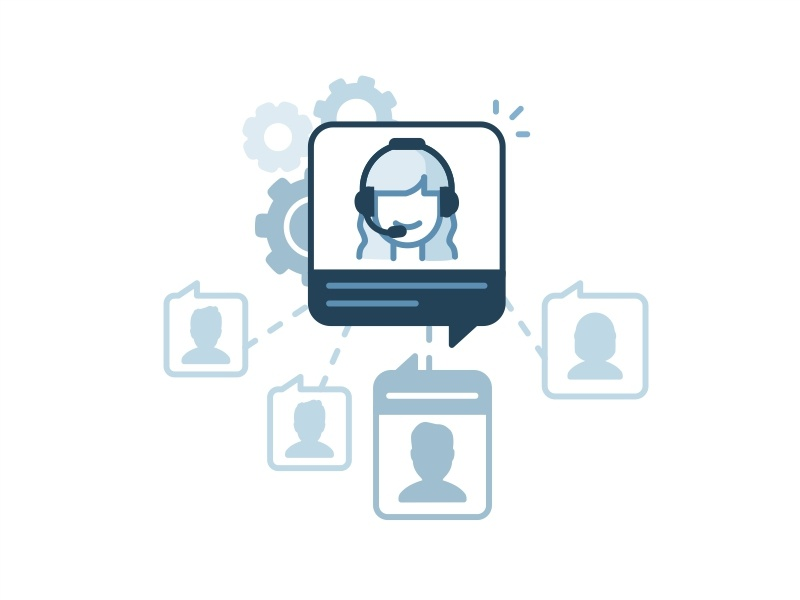 Automatic Chat Routing team messenger chat server routing network bot password illustration icon help avatar