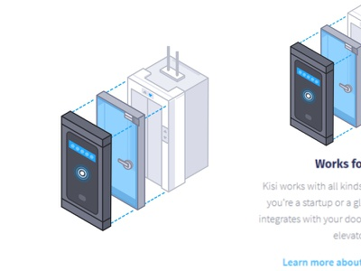 Works For You illustration isometric card app control systems speed buildings residential office commercial businesses smartphone