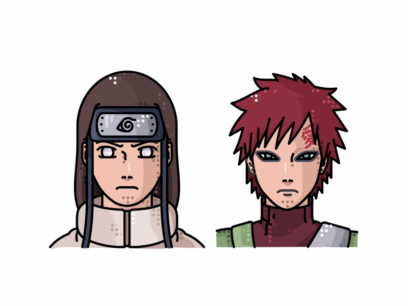 Neji And Gaara by Aleksandar Savic on Dribbble Gaara And Neji