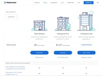 Pricing page add