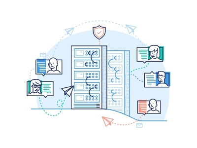 Enterprise Illustration power security web landing page messages scale research monitoring servers enterprise delivery data collection