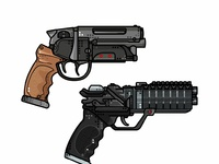 Blade runner guns add