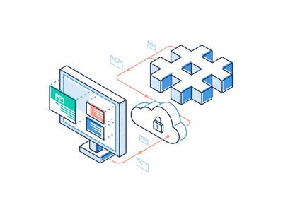 Import From Slack illustration design security code open source interface cloud chat message technology slack import