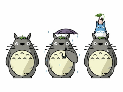 My Neighbor Totoro design icons kawaii colorful characters cute illustration miyazaki totoro supahcute my neighbor totoro ghibli