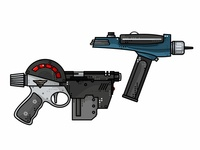 Judge Dredd And Star Trek Guns