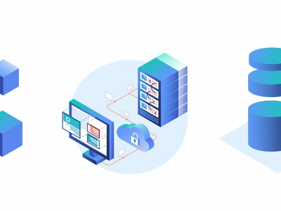 Private Servers 🗄️ servers gradient technology message chat cloud interface open source code security design illustration