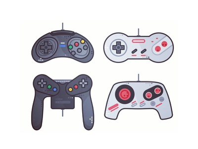 Retro Joystick No4 nintendo atari 90s 80s game video gaming retro design stickers joystick illustration arcade