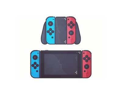 Nintendo Switch illustration games retro arcade colors vector video nintendo switch love gaming game console