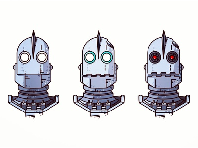 The Iron Giant 🤖 game movie cartoon simple line vector design robot angry iron big friends