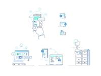 Enterprise and team illustrations add