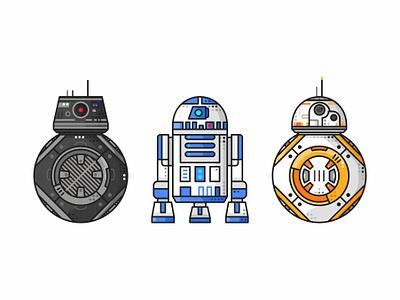 Droids bb8e droids star wars jedi robot joda r2d2 stormtrooper darth vader bb8 simple icons