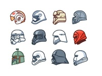 Star wars helmets add