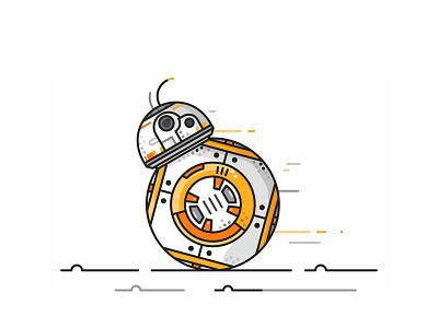 Bb8 Run icons simple bb8 darth vader stormtrooper r2d2 joda robot jedi star wars droids bb8e