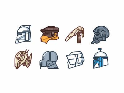Star Wars Helmets boba fett darth vader death star droid icons kylo outline r2d2 star wars stormtrooper helmet character