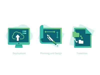 Icons secure web proxy mobile email configuration server documents transition flat icon set icon deployment design planning branded asset