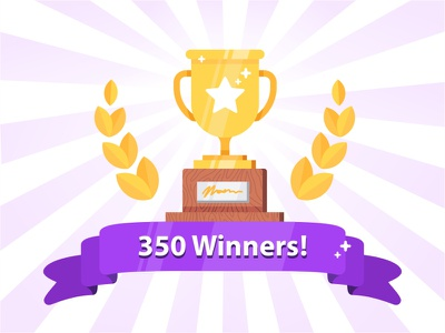 350 Winners win vector success flat winner trophy illustration icon set contest badge achievement