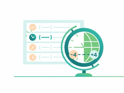 Time Zone work zone time branded asset globe design editorial illustration interface ui ux web gradient