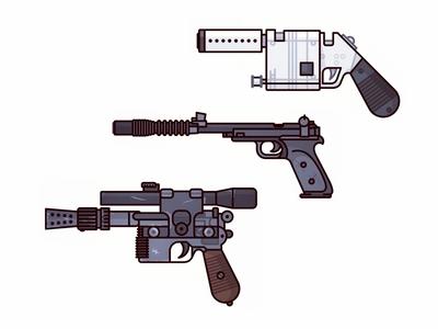 Star Wars Guns stormtrooper pew pew princess leia millenium falcon reys blaster weapon star wars pistol illustration han solo gun blaster