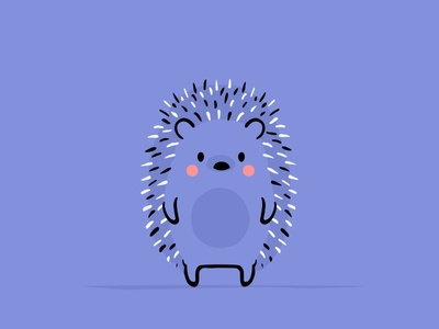 Cute Hedgehog character cartoon emotion character design identity pets pet motion illustration gif hedgehog cute