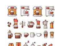Coffee icons add