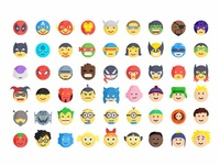 Superheroes And Villains Emoji
