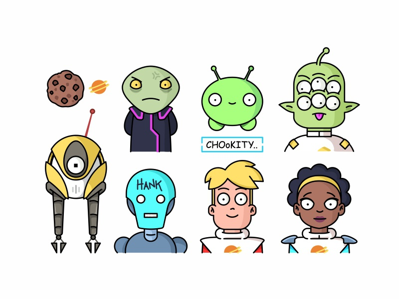 final space characters by aleksandar savic dribbble