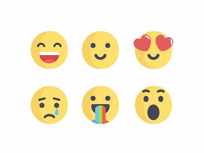 Emoji design illustration emoji emoji set icons cute colorful flat 2d character reactions faces