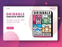 Sarajevo dribbble meetup interface add