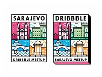 Sarajevo Dribbble Meetup Stickers