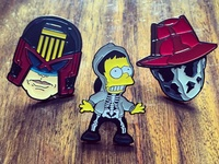 Rorschach and Judge Dredd pin 📍