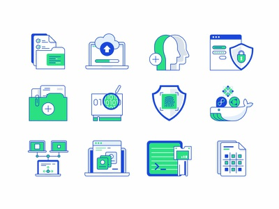 Icons No.2 design icon set illustration code files virtual servers support security networking connection cloud access control