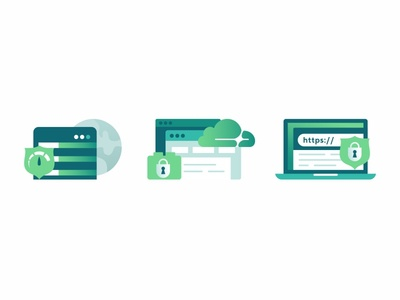 Icons virtual servers support security networking illustration icon set files design connection code cloud access control